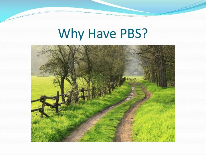 Why Have PBS?