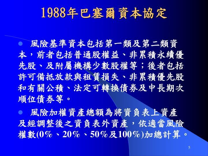 1988年巴塞爾資本協定
