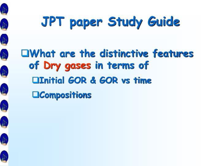 JPT paper Study Guide