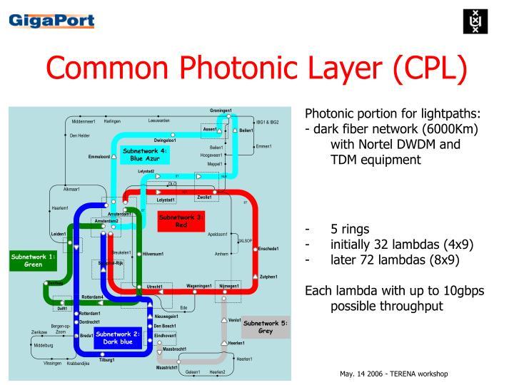 Common Photonic Layer (CPL)