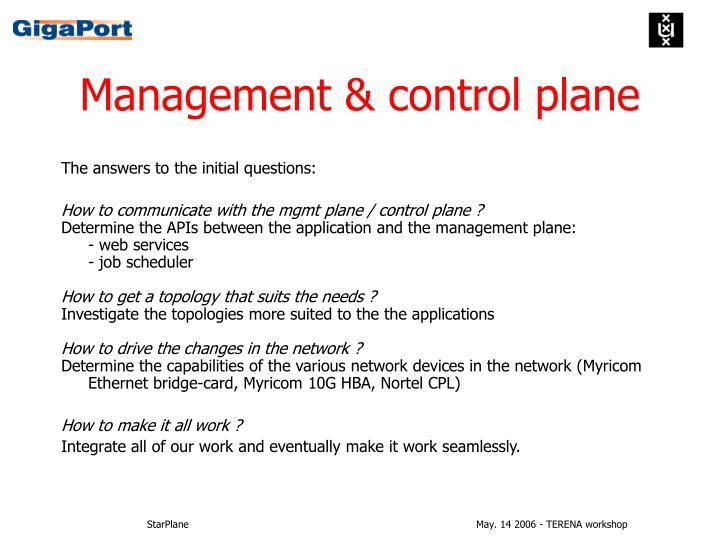 Management & control plane
