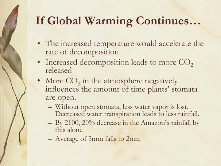 If Global Warming Continues…