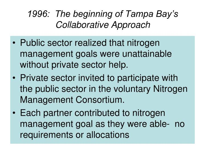 1996:  The beginning of Tampa Bay's