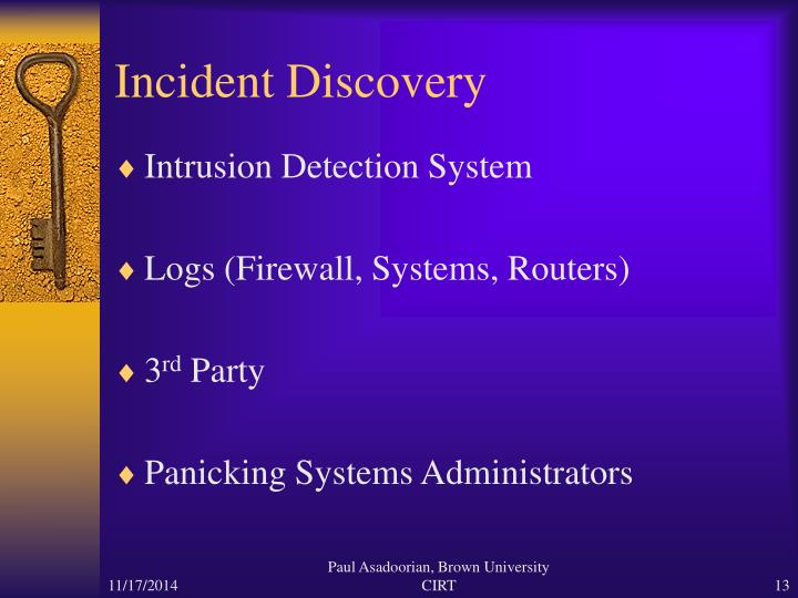 Incident Discovery