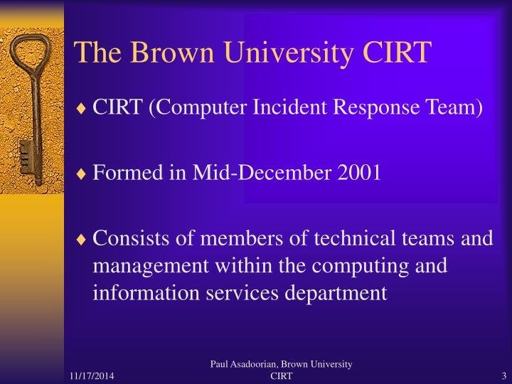 The brown university cirt