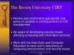 the brown university cirt2