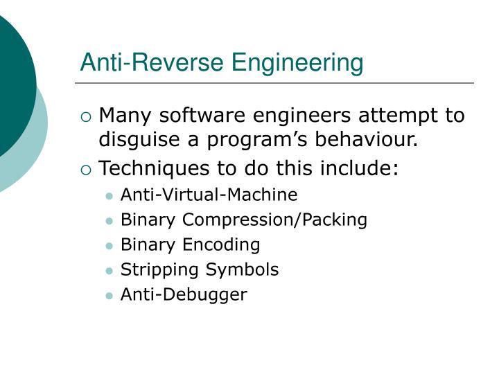 Anti-Reverse Engineering