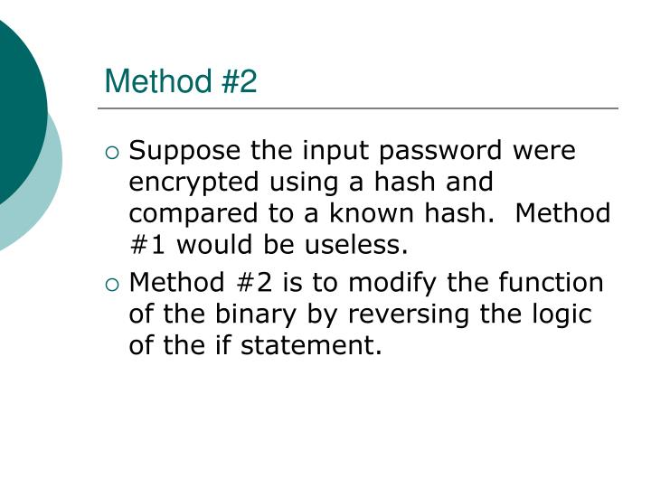 Method #2