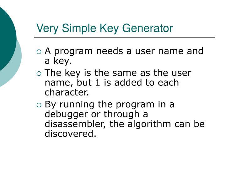 Very Simple Key Generator