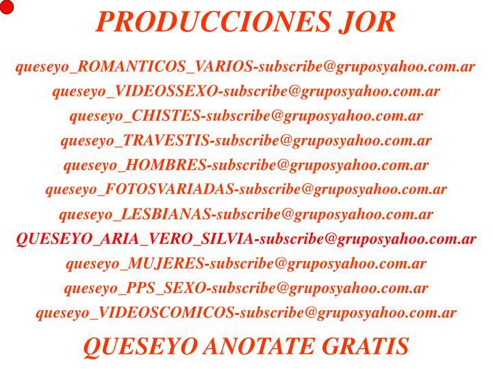 PRODUCCIONES JOR