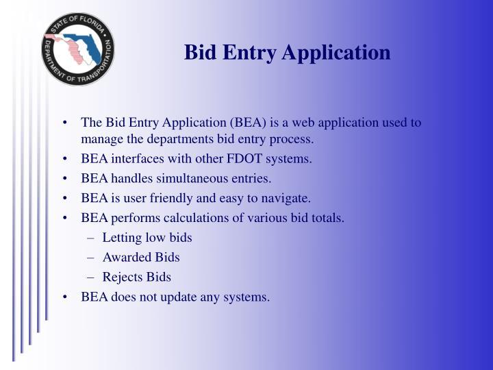 Bid Entry Application