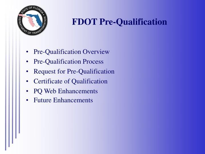 FDOT Pre-Qualification