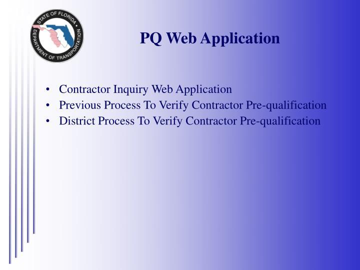 PQ Web Application