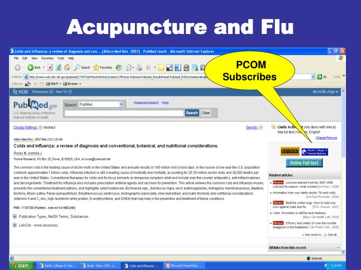Acupuncture and Flu