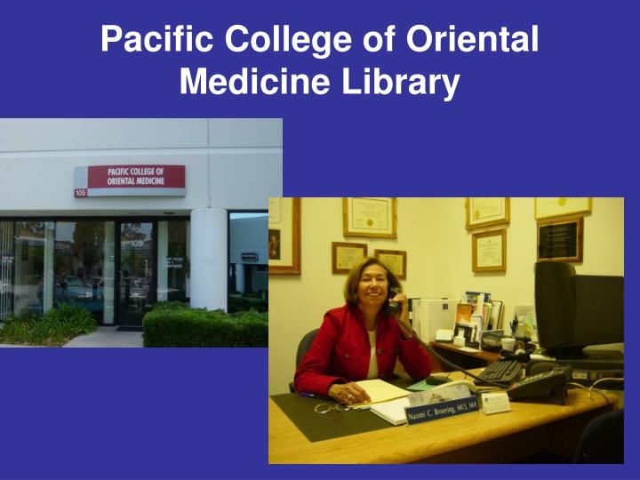 Pacific College of Oriental Medicine Library