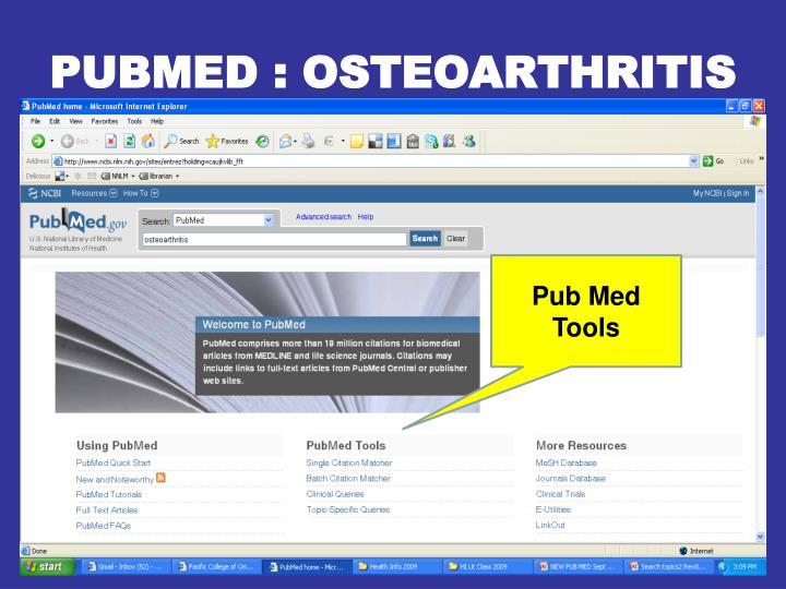 PUBMED : OSTEOARTHRITIS
