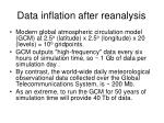 data inflation after reanalysis