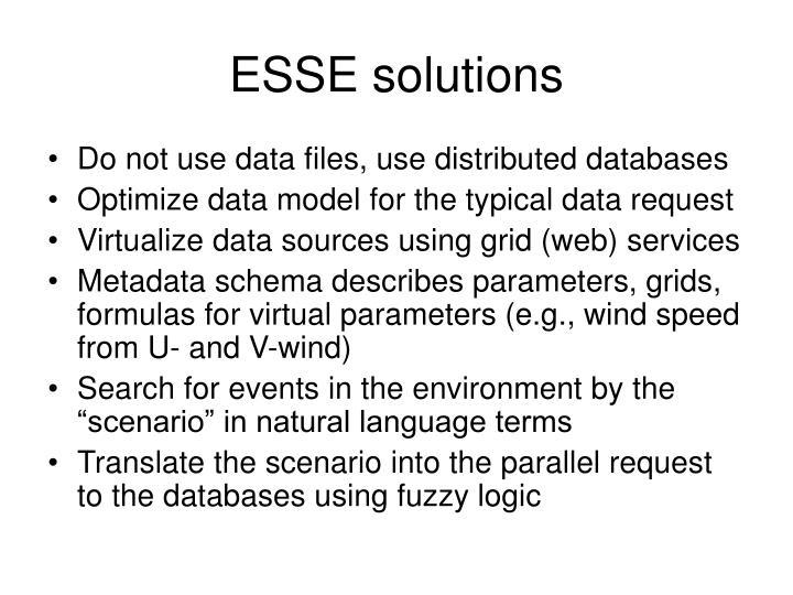 ESSE solutions