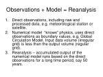 observations model reanalysis