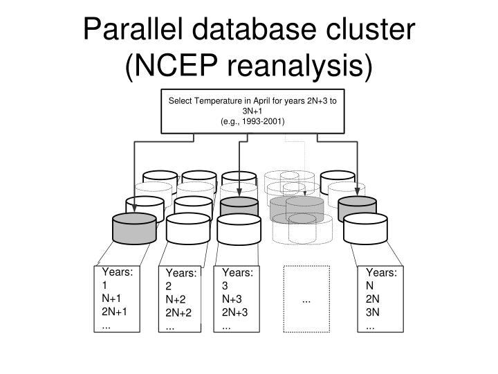 Parallel database cluster
