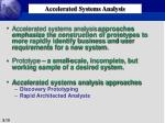 accelerated systems analysis