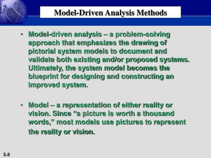 Model-Driven Analysis Methods