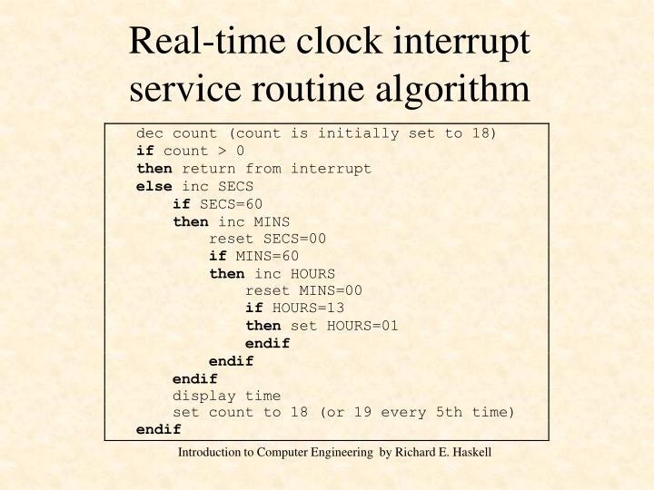 Real-time clock interrupt