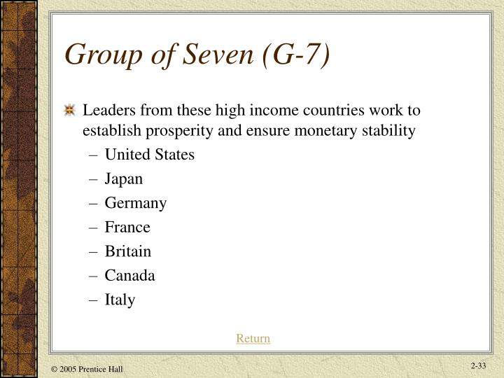 Group of Seven (G-7)