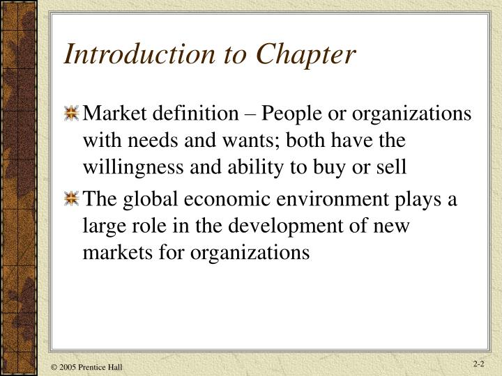 Introduction to Chapter