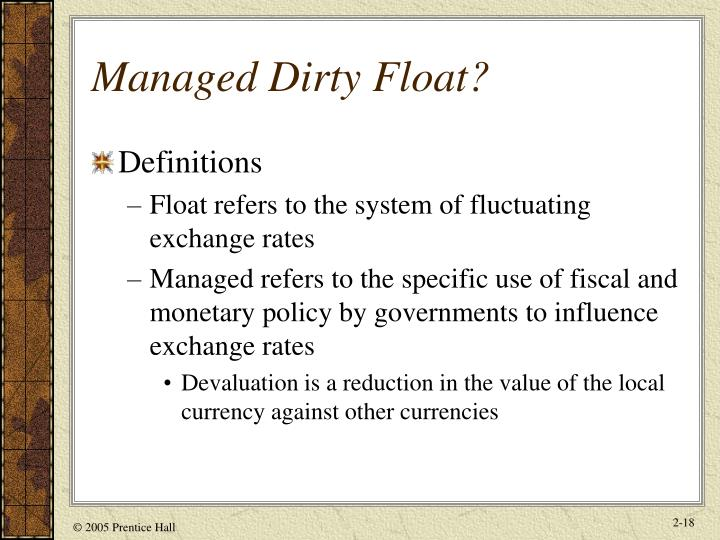 Managed Dirty Float?