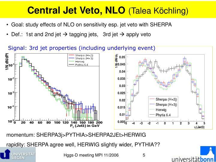 Central Jet Veto, NLO