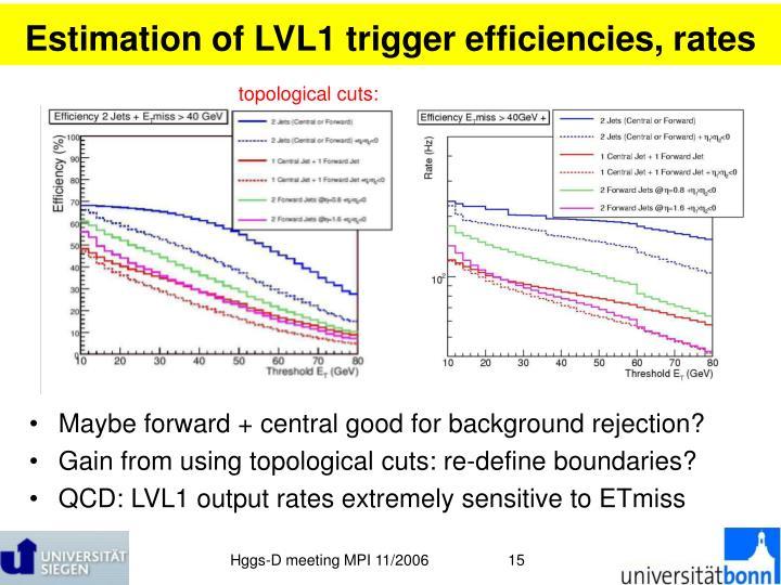 Estimation of LVL1 trigger efficiencies, rates