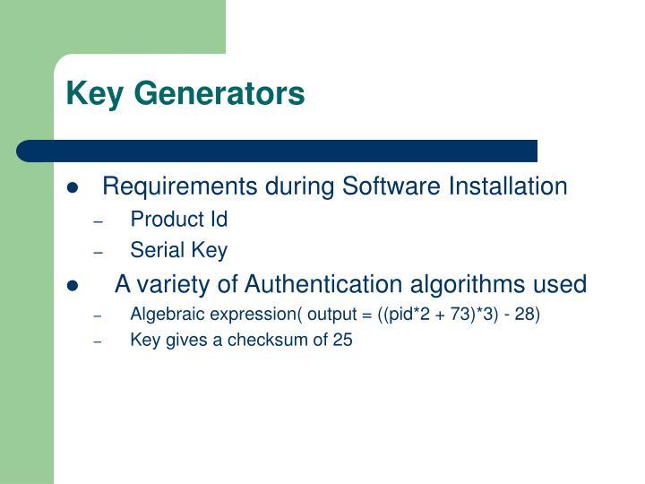 Key Generators
