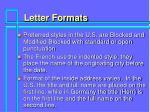 letter formats