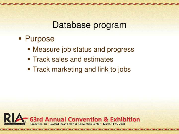 Database program