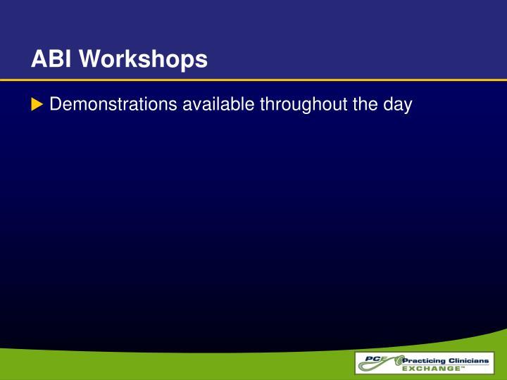ABI Workshops