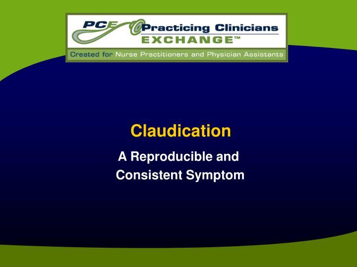 Claudication