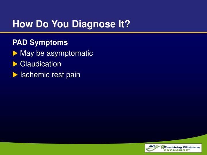 How Do You Diagnose It?