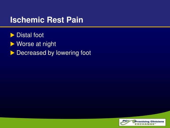 Ischemic Rest Pain