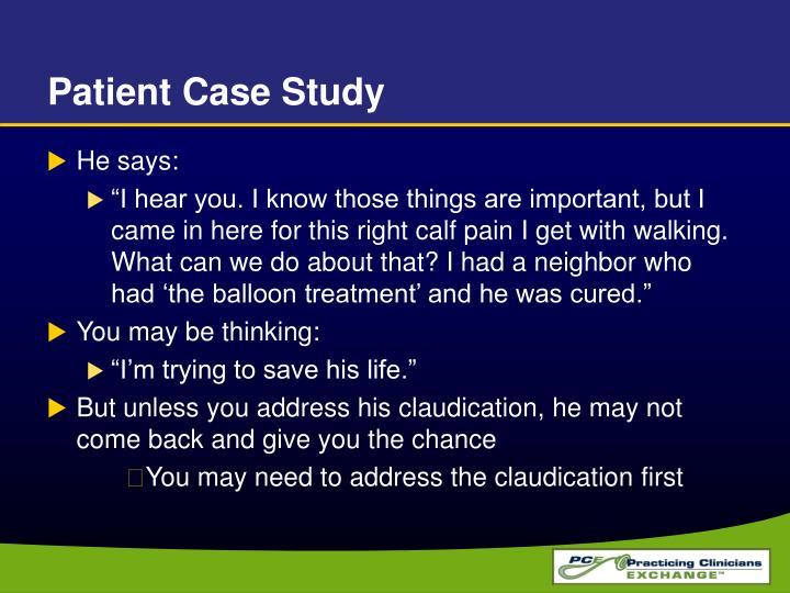 Patient Case Study