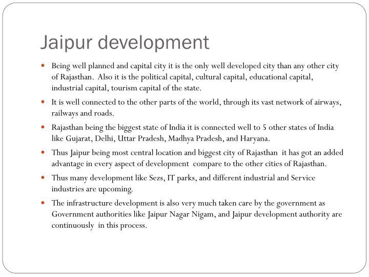 Jaipur development