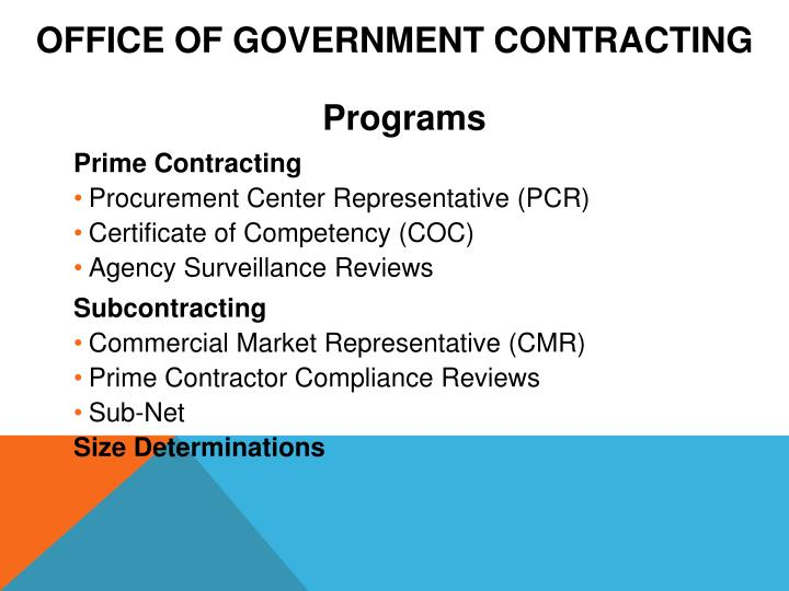 Office of Government Contracting