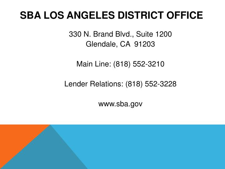 SBA Los Angeles District Office
