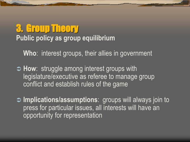 3.  Group Theory