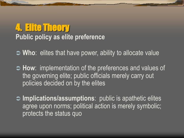 4.  Elite Theory