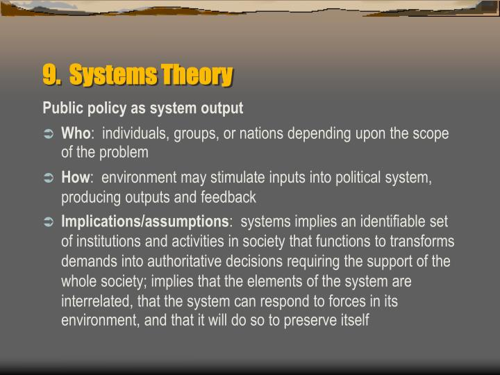 9.  Systems Theory