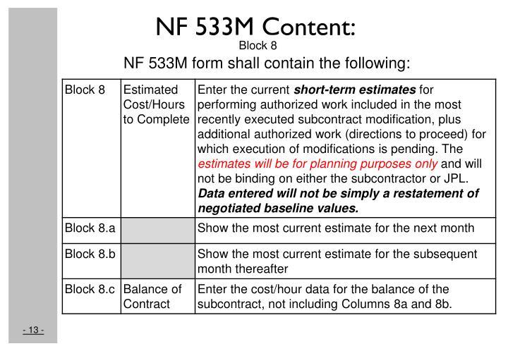 NF 533M Content: