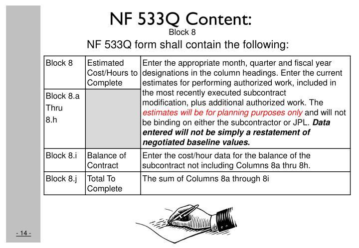 NF 533Q Content: