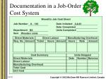 documentation in a job order cost system1