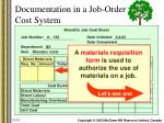documentation in a job order cost system2